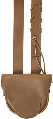 "Possibles bag, fine leather, 8"" by 7"", beaver tail flap"