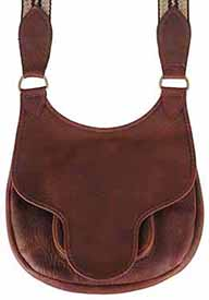 "Possibles bag, elk tanned leather, 11.5"" by 10"", beaver tail flap"