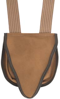 "Possibles bag, brown canvas, 8-1/2"" by 9"", beavertail flap"