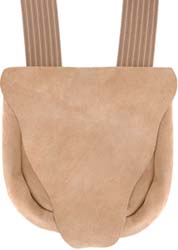 "Possibles bag, suede leather, 8-1/2"" by 9"", beavertail flap"