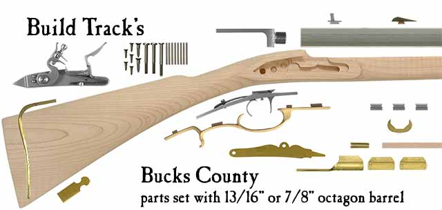 Build Track's Bucks County flint lock longrifle parts set