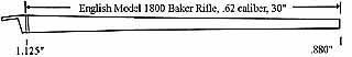 Barrel, .62 caliber, Baker Rifle Model 1800,