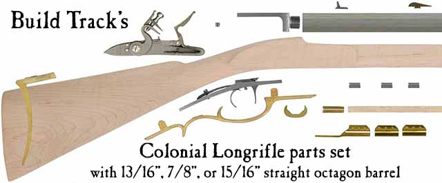 Build Track's Colonial Longrifle parts set, 