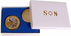 Gift box for 1750 era Brass Sundial Compass