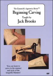 Beginning Carving on DVD The Gunsmith's Apprentice Series, by Jack Brooks
