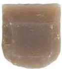 "French amber gun flint, 1-1/4 x 1-1/2"" for musket size locks"