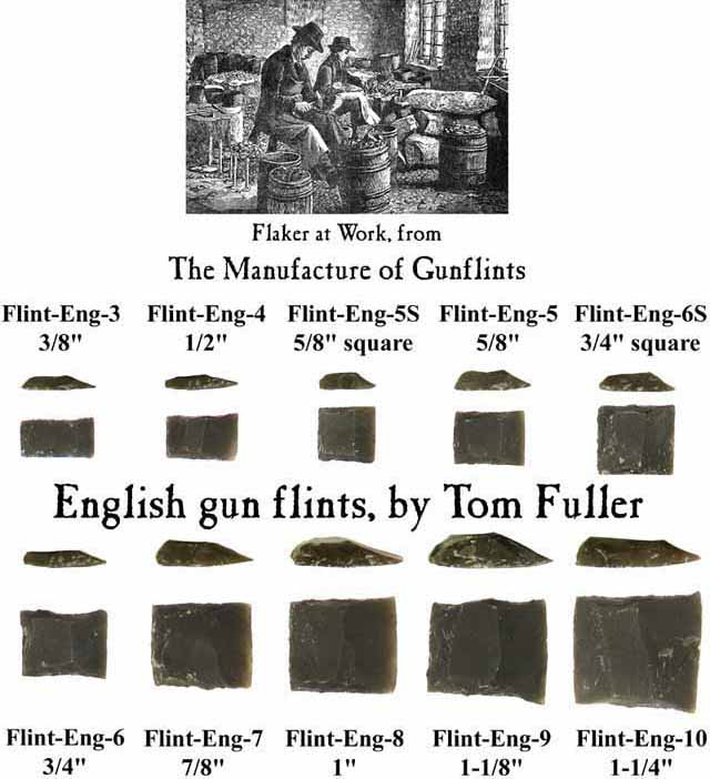 English Flints, knapped by Tom Fuller