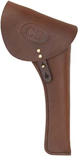 Military Holster, right hand, brown leather, C.S. marked flap