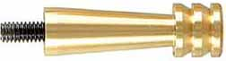 "Jag, jagged cleaning tip, brass, .54 caliber, 3/8"" rod, 10-32 thread"