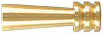 "Jag, jagged cleaning tip, brass, .54 caliber, 3/8"" shank, 12-24 female thread to fit a male 12-24 musket ramrod"