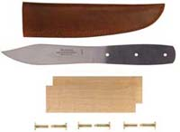"5"" Green River Camp Blade Knife Kit with Maple Handle and Leather Sheath"