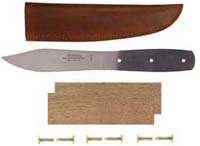 "5"" Green River Camp Blade Knife Kit with Walnut Handle and Leather Sheath"