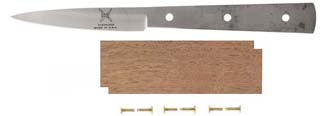 "3"" Green River Spearpoint Paring Knife Kit with Walnut Handle"