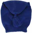 Tube shaped knitted liberty hat, blue