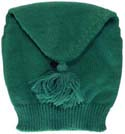 Tube shaped knitted liberty hat, green