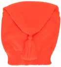 Tube shaped knitted liberty hat, blaze orange