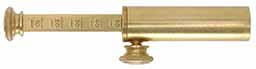 Powder measure, brass,