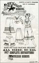 Pattern for Ladies Frillies,