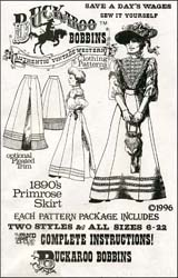 Pattern for 1890's Primrose Skirt,