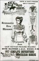 Pattern for Ladies Romantic Era Blouse,