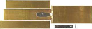 Hinged Patchbox Kit, with spring, brass,