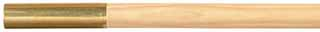 "Ramrod, 3/8"" hickory, 48"" long, brass tip, 8-32 thread"