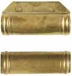 "ramrod pipe, brass, forward pipe with lug for pin, deluxe round with ringed ends, for 3/8"" ramrod"