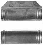 "ramrod pipe, iron, forward pipe with lug for pin, deluxe round with ringed ends, for 3/8"" ramrod"