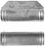 "ramrod pipe, nickel silver, forward pipe with lug for pin, deluxe round with ringed ends, for 7/16"" ramrod"