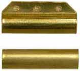 "Ramrod pipe, brass, forward with pin lug, round, for 3/8"" rod"