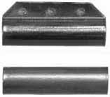 "ramrod pipe, iron, forward with pin lug, round, for 3/8"" rod"