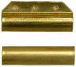 "ramrod pipe, brass, forward with pin lug, round, for 7/16"" rod"