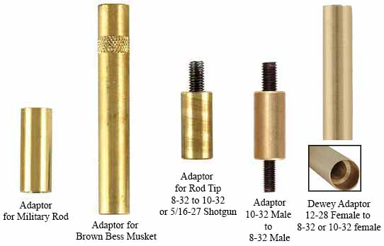 Adaptors for other thread sizes