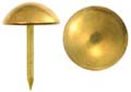 Tacks, polished plated brass,