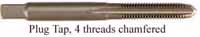 Tap, high carbon steel, 1/4-28 thread, plug tap