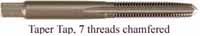 Tap, high carbon steel, 3/8-16 thread, taper tap